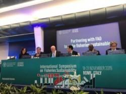 نائب وزير الزراعة تلقي كلمة مصر عن تنمية الثروة السمكية في الندوة الدولية بروما