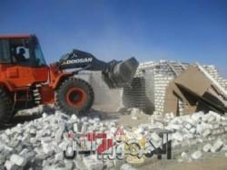 محافظة أسوان تواصل حملات إزالة التعديات على الأراضى أملاك الدولة ضمن أعمال الموجة الرابعة عشر