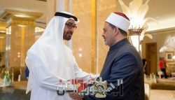 الإمام الأكبر يتلقى اتصالا هاتفيا من ولي عهد أبو ظبي
