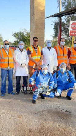 إجراءات وقائية وتعقيم للعاملين بـفوسفات أبو طرطور في الوادي الجديد